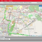Trasa przejazdu auta z GPS - dokładna