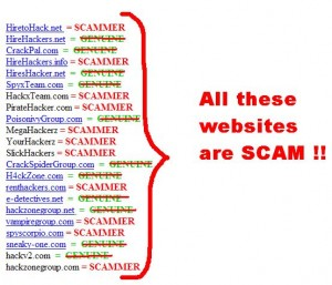 lista hakerów scamerow