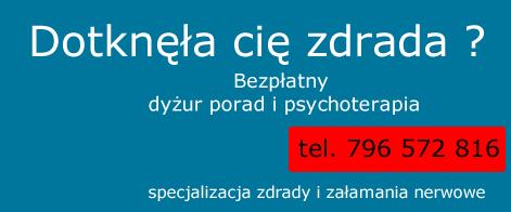 zdrada pomoc psychologiczna bezpłatna